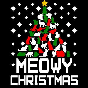 Meowy Christmas Cat Tree Hässlich