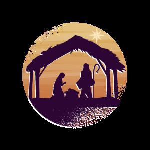 Christkind in der Krippe in Bethlehem