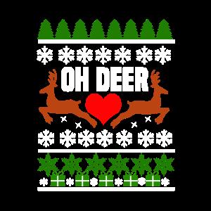 Oh Deer Weihnachten lustig