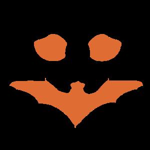 Kürbismotiv Fledermaus