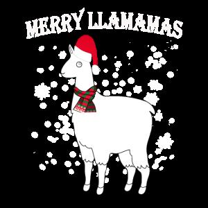 Frohe Llamamas-Weihnachtslama