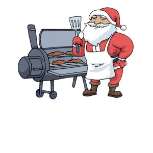 Weihnachten Grillen Tshirt Weihnachtsmann Grill