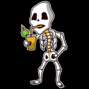 Skeleton drinks cocktail