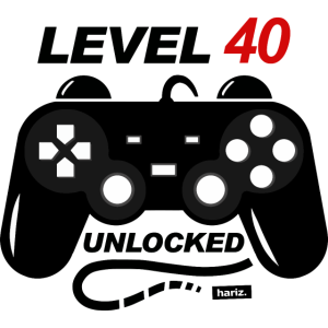 Level 40 Unlocked 40 Geburtstag HARIZ Geschenk Run