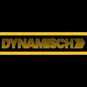DYNAMISCH | Schriftzug mit Fast Forward | gold