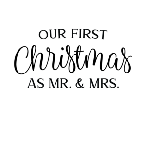 Our first Christmas as Mr and mrs