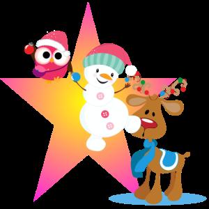 Schneeman, Weihnachten lustig, Elch, Eule