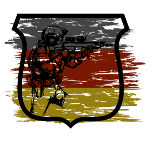 Sportschütze Egoshooter Deutschlandflagge