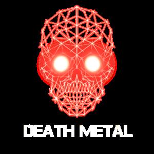 Death Metal Geometric skull