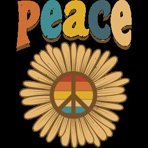 Flower Peace Love Hippie anti war Peacezeichen