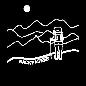 Backpacker Backpack Sonne Berge