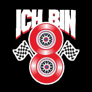 8. Geburtstag Junge Auto Rennwagen Geschenk