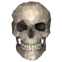 Polygons skull goldy