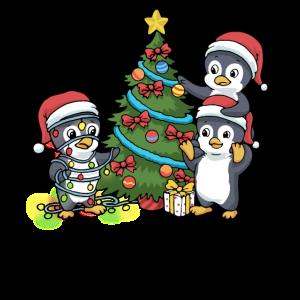 Weihnachtspinguin Weihnachten Pinguin Baum Advent