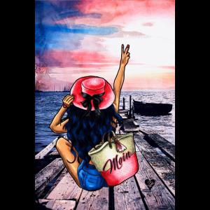 Moin Küsten-Mädchen | Yolo-Artwork