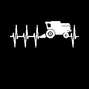 Heartbeat EKG Puls Landwirt Mähdrescher