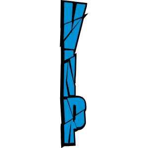 blau vertikal muster kratzer cool vip logo design
