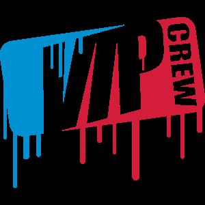 crew team party feiern sport spray graffiti farbe