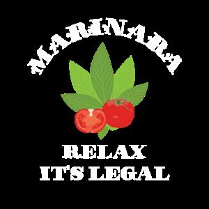 Marinara Relax Es ist legal Basilikum und Tomate Italien