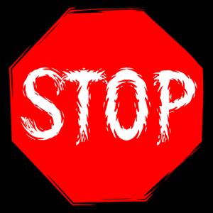 Stop Schild Vektor
