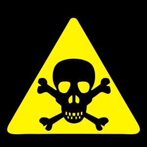 Gefahr Schädel Zeichen 3011