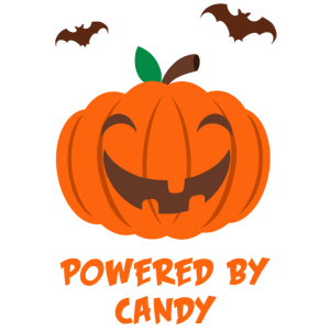 Cute Pumpkin Powered by Candy Halloween Kürbis