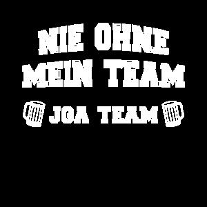 Ohne Mein Team JGA Bier Crew Männer Geschenk Saufi