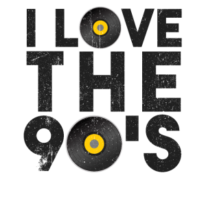 I Love 90s Jahre Party Kostüm