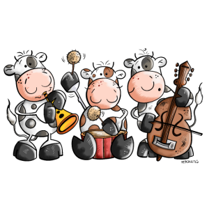 Die musikalische Kuhband