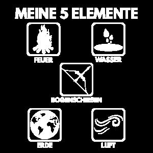 Meine 5 Elemente Feuer Wasser Luft Erde Geschenk