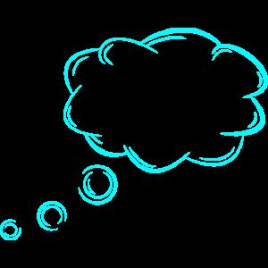 Gedankenblase anpassbar Geadanken