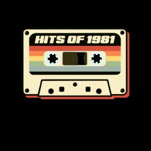 Hits Of 1981 Audio Kassette Vintage Retro Design