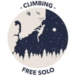 Climbing free solo Klettern Free style