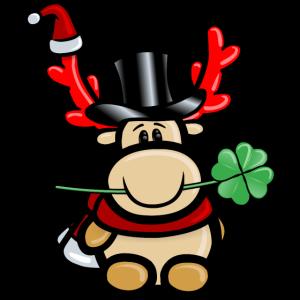 Elch Elmondo wünscht alles Gute zum Jahreswechsel