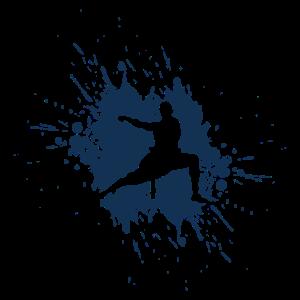 Blauer Kampfsportler Judo Karate