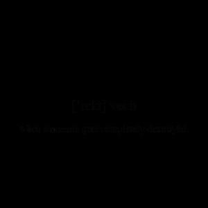 Rekt (zerstört) Definition Unisex T-Shirt