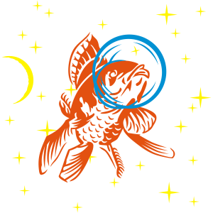 goldfischmonaut 3 farb vektor