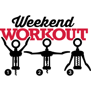 Weekend workout corkscrew