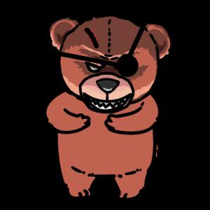 Horror Bär Teddybär Halloween Kinder Kleinkind
