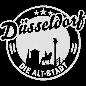 Düsseldorf T Shirt Die Altstadt Wahrzeichen