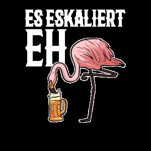 Flamingo Bier Trink Party