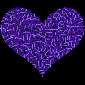 Violettes Herz