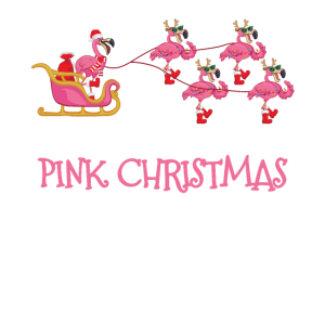 I'm Dreaming Of A Pink Christmas - Pink Flamingo