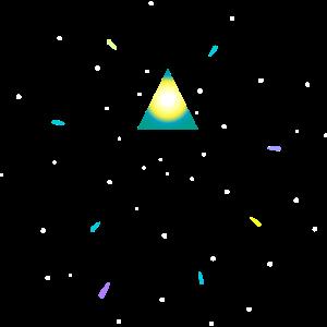 Dreieck und Weltraum