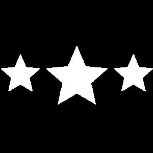 3 Sterne T-Shirt mit drei Sternen