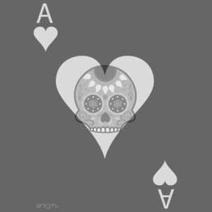 Ace of hearts -gray version- The Skulls Players