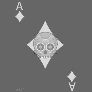 Ace of diamonds -gray version- The Skulls Players