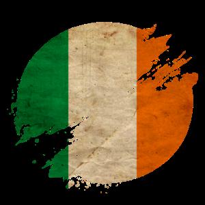 Irland Vintage Kreis / Flagge