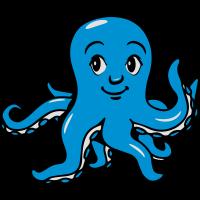 Tintenfisch oktopus lustig kinder süss