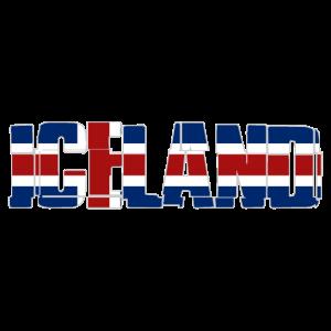 Iceland Flag Logo